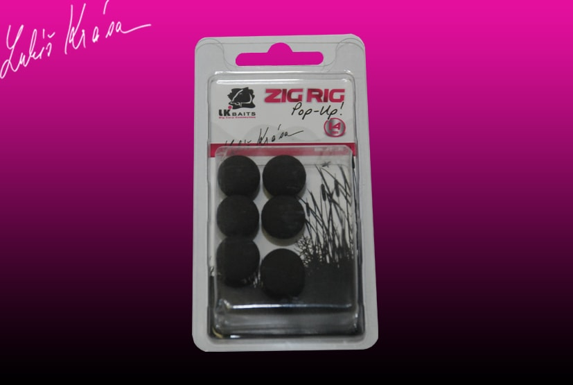LK Baits ZIG RIG Pop–Up - 14 mm - Black