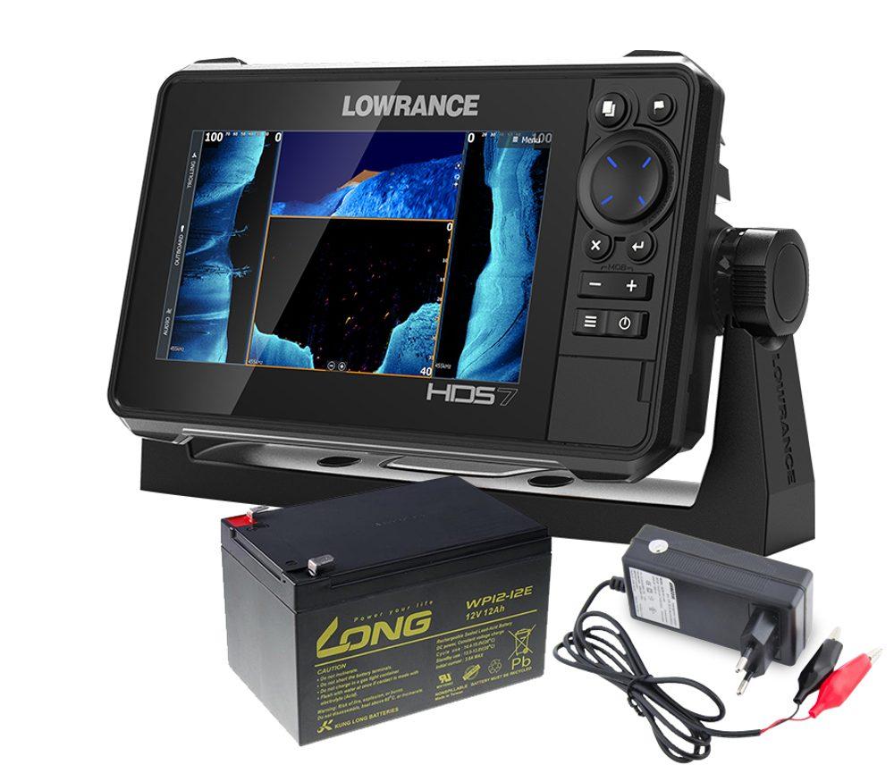 Lowrance Echolot HDS LIVE 7 se sondou Active Imaging 3v1 + baterie + nab�je?ka ZDARMA