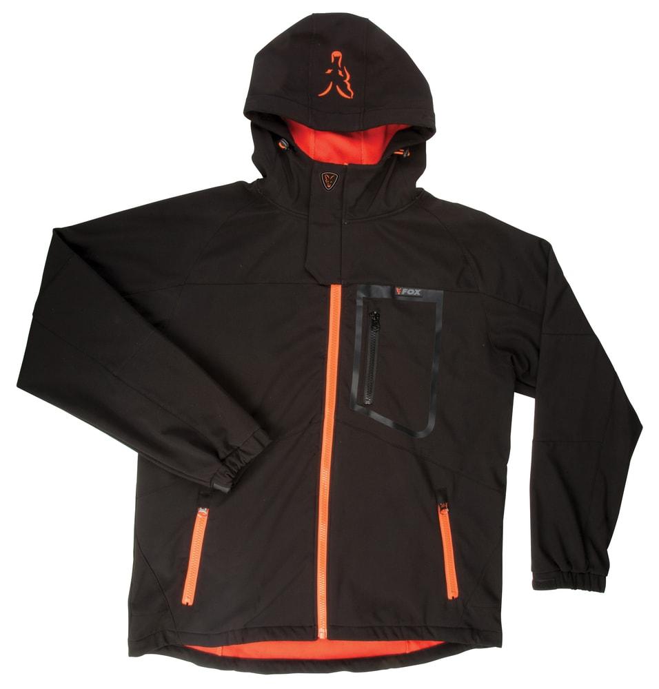 Fox Softshellová Bunda Softshell Jacket Black/Orange - vel. XXL