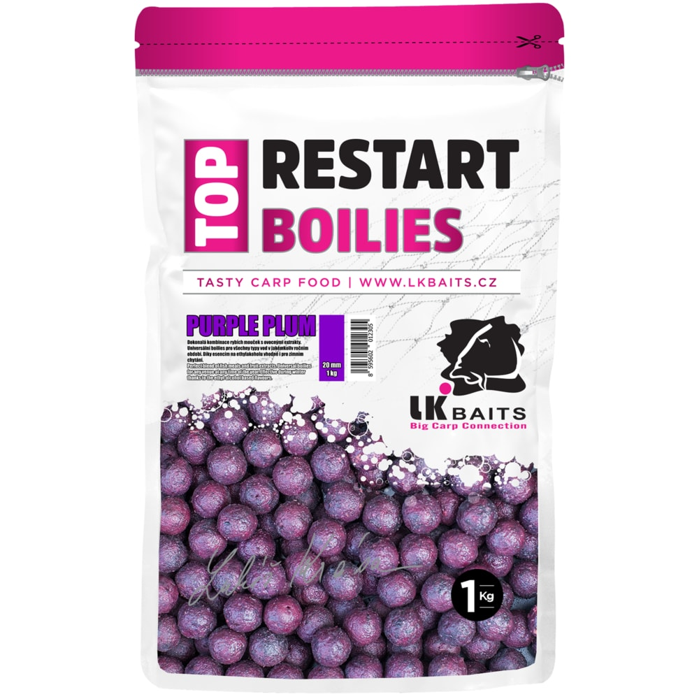 LK Baits Boilie TopRestart Purple Plum 1kg