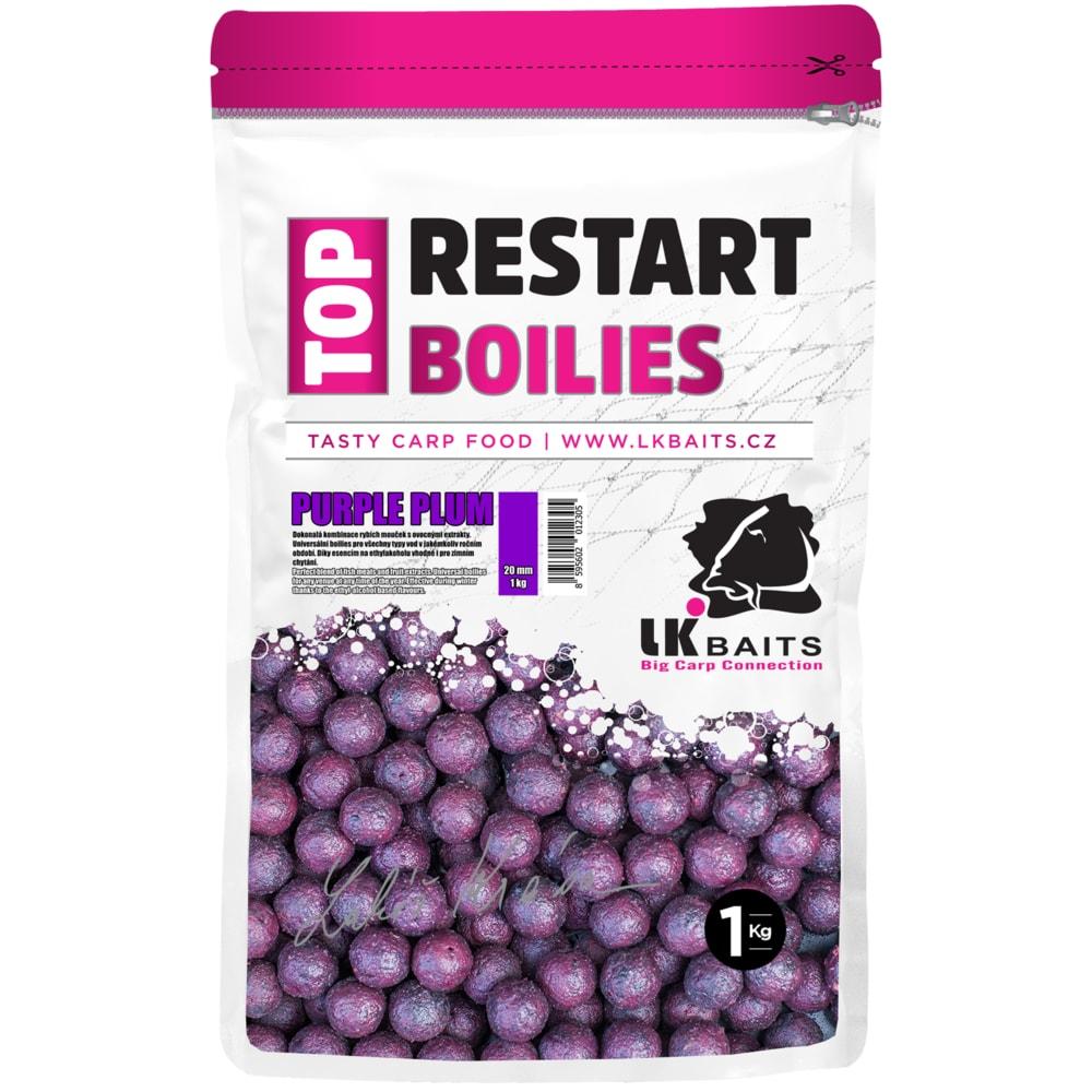 LK Baits Boilie TopRestart Purple Plum 1kg - 18mm
