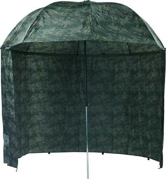 Deštník na ryby Mivardi De?tn�k camou PVC s bo?nicemi 250