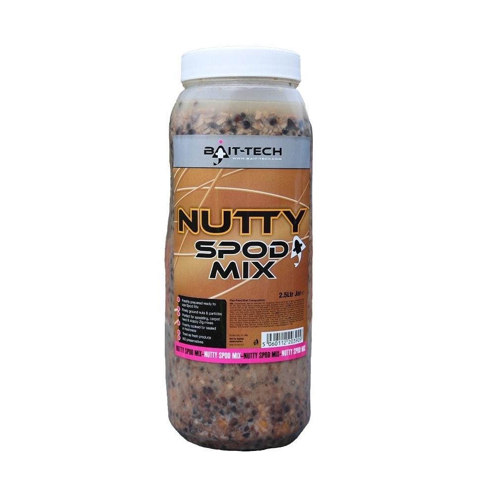 Bait-Tech Partiklová směs s ořechy Nutty Spod Mix Jar 2,5L