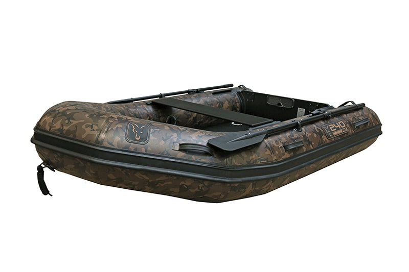Fox Nafukovací člun 240 Camo Inflable Boat 2,4m - Air Deck Black