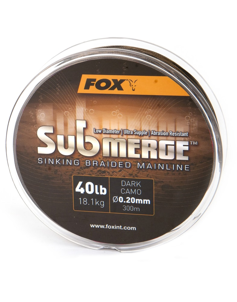 Fotografie Fox Pletená šňůra Submerge Dark Camo Sinking Braid - 0,20mm / 18,1kg / 600 m Fox