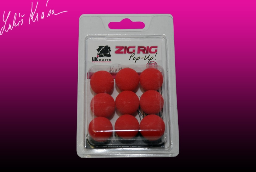 Fotografie LK Baits ZIG RIG Pop–Up - 18 mm - Red