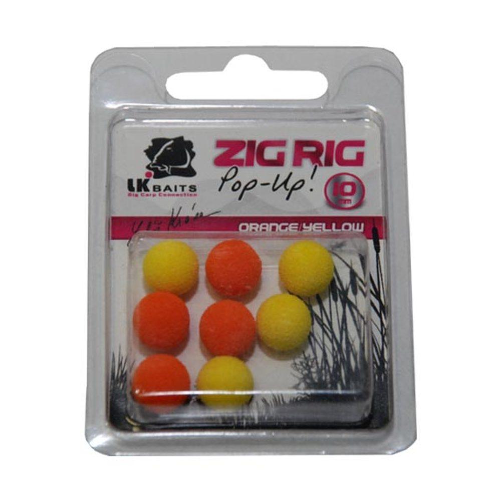 LK Baits ZIG RIG Pop–Up - 10 mm - Orange/Yellow