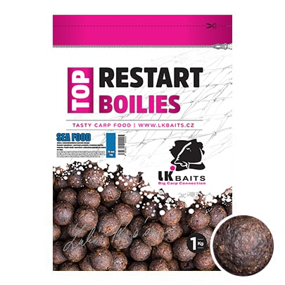 Fotografie LK Baits Boilie Top ReStart Boilies Sea Food 18mm 1kg