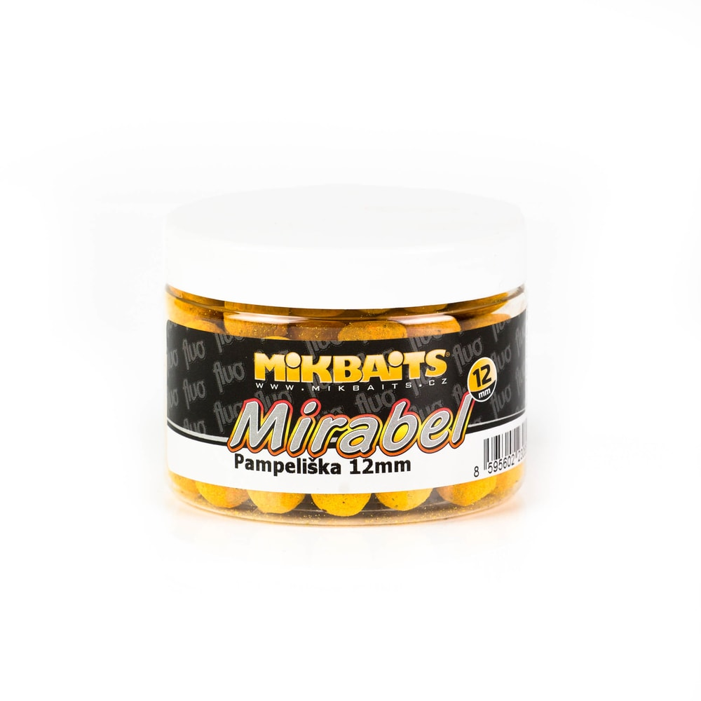 Mikbaits Boilie Mirabel Fluo 12mm 150ml - Česnek