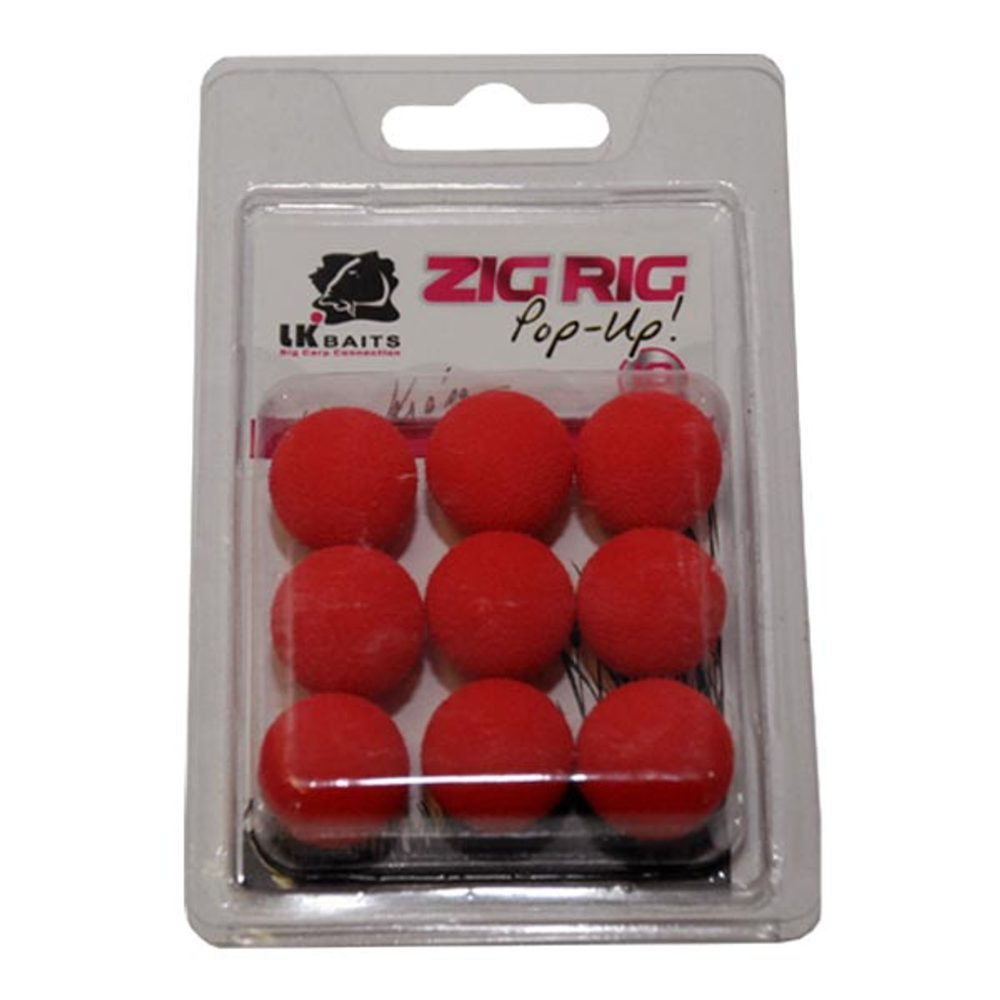LK Baits ZIG RIG Pop–Up - 18 mm - Red
