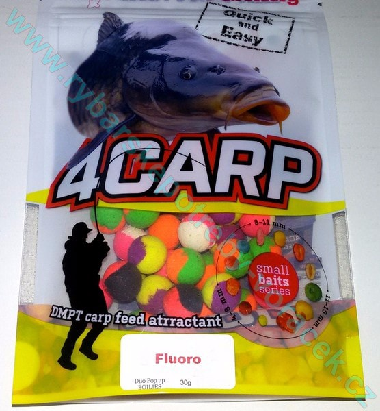 4Carp Duo Fluoro Pop up boilies - 15mm Banán