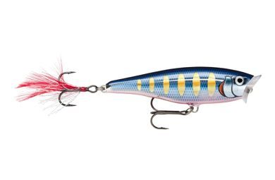 Rapala Wobler Skitter Pop Top Water Striped Hot Blue