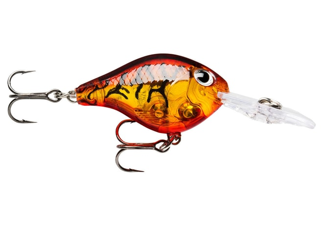 Rapala Wobler Ultra Light Crank Glass Amber Tiger UV