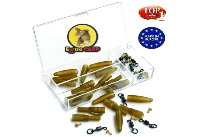 Extra Carp Závěs na zátěž Lead Clip With Swivel Ring 10ks