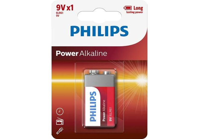 Philips Baterie PowerLife alkalická 9V 1ks