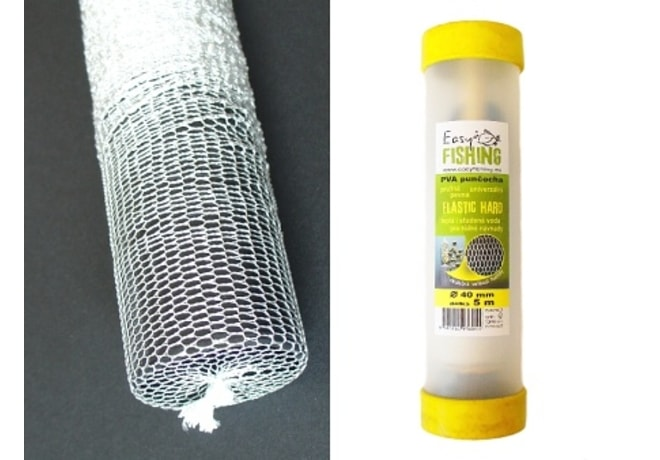 Easy Fishing PVA punčocha ELASTIC HARD 40mm komplet v tubě 7m