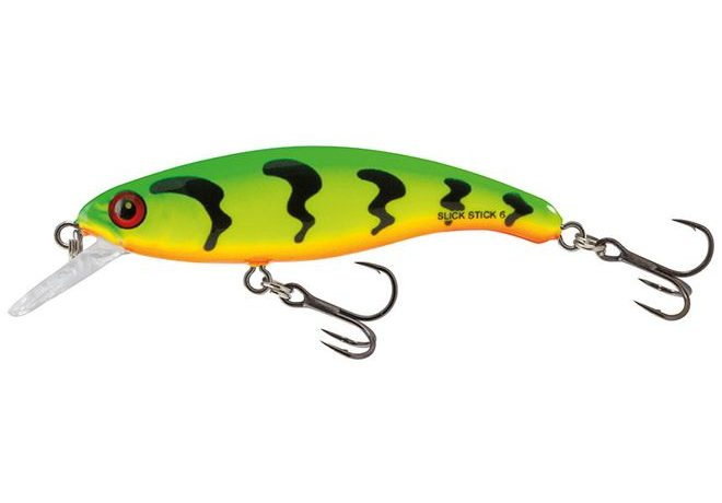Salmo Wobler Slick Stick Floating Green Tiger