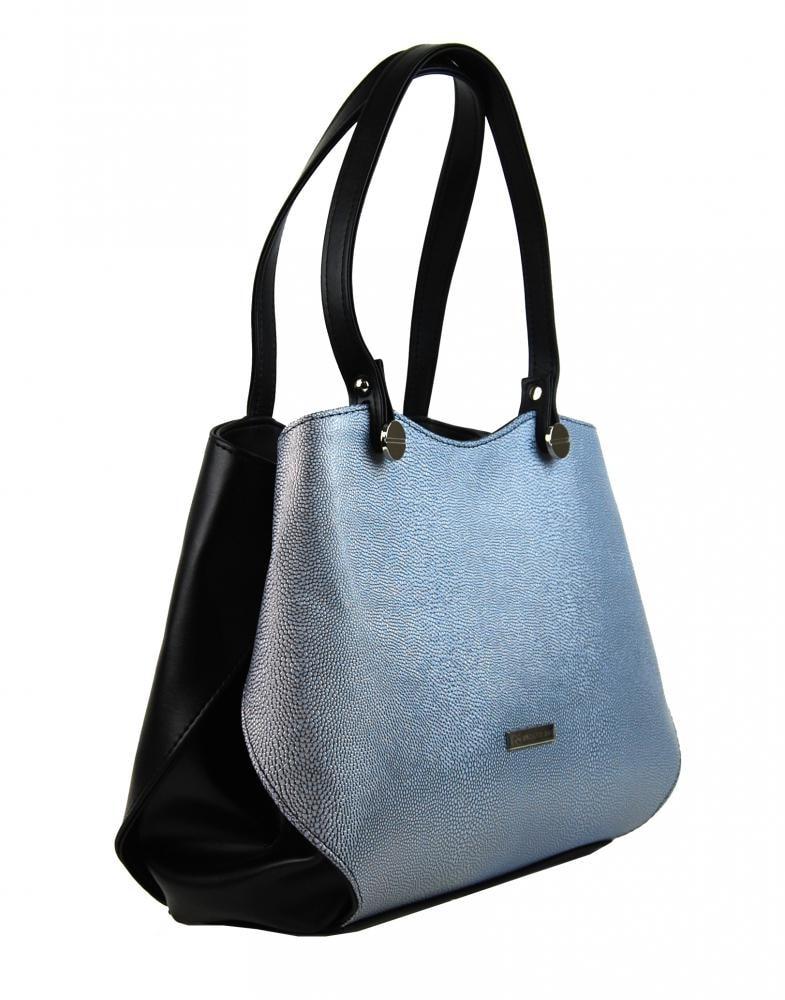 85d0b41dd7 Černo-stříbrná elegantní dámská kabelka přes rameno S614 ...