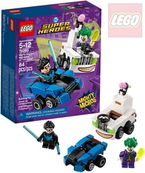 SUPER HEROES Mighty Micros: Nightwing vs. Joker STAVEBNICE 76093