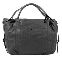 1befdbbabd Velká dámská kabelka z broušené ekokůže H16093 tmavá šedá