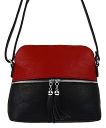 2593d4834e Malá crossbody kabelka se stříbrným zipem NH6021 červená