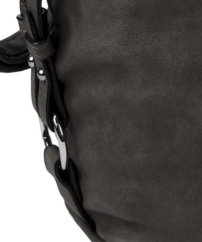 38b911d2b3 Moderní velká crossbody kabelka 74-MH tmavě šedá. Zvětšit. Předchozí   Další. Previous  Next