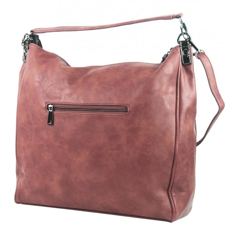 0de171b7ee Velká růžová dámská kabelka přes rameno TESSRA