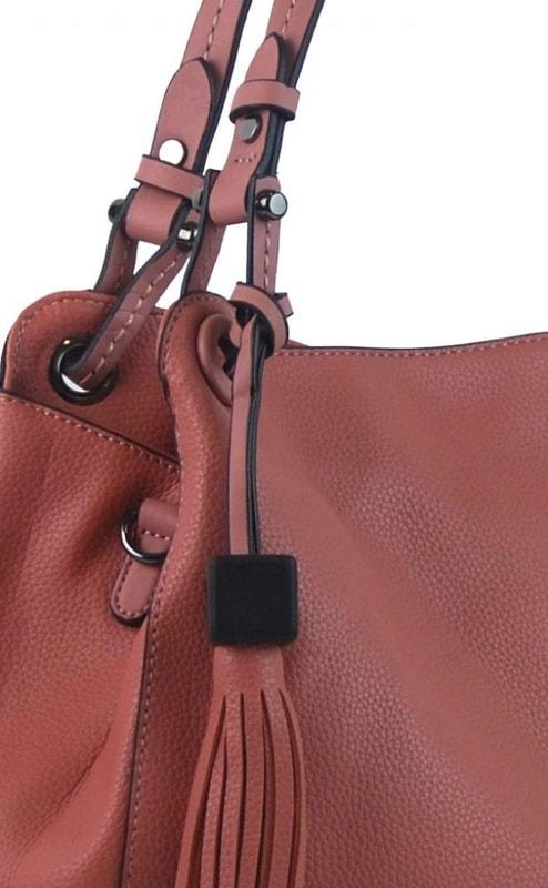 b3cf8192fc Růžová moderní kabelka přes rameno 3990-BB