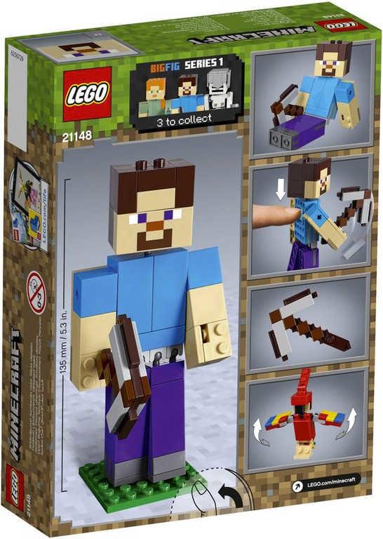 797607f7a MINECRAFT Velká figurka: Steve s papouškem 21148 | Lego | Peknydarek.cz