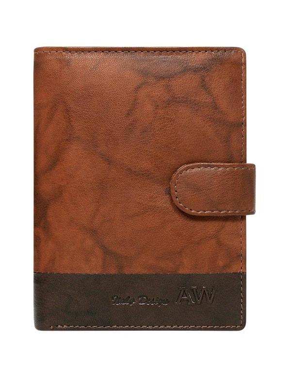 4f2d4fd906 Kožená hnědá pánská peněženka WILD