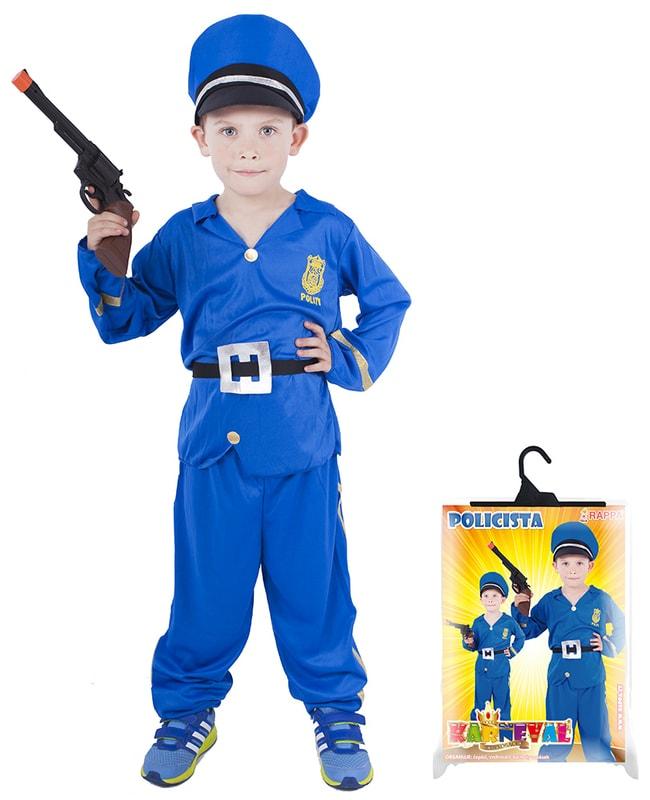 a7158b255 Karnevalový kostým pro děti policista, vel. M | RAPPA | Peknydarek.cz