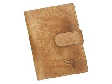 d32a86c687 Kožená pánská peněženka písková hnědá RFID v krabičce WILD