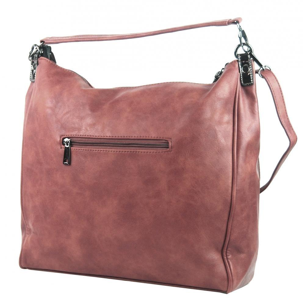 625d68687c344 ... Velká růžová dámská kabelka přes rameno TESSRA ...