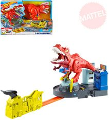 HOT WHEELS City T-Rex řádí herní set s autíčkem na baterie