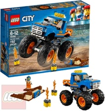 CITY Monster truck STAVEBNICE 60180