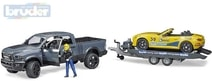 02504 Set auto RAM 2500 Power Wagon + Roadster s přívěsem a figurkou