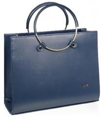 deda9bf2c5 Modrá matná moderní elegantní dámská kabelka S730