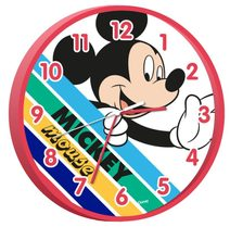 Hodiny Mickey color Plast, 24 cm