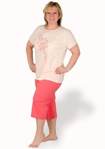 b435f43449ce Dámské capri pyžamo nadměrné velikosti Sylwia