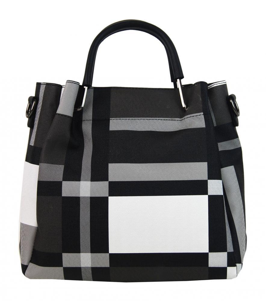 9bd6b44c05 Černo-bílá elegantní dámská kabelka do ruky ...