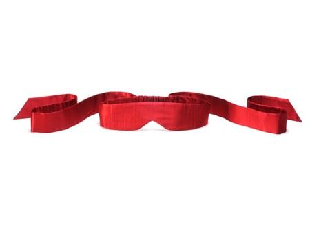 Intima - hedvábná páska na oči - červená