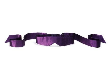 Intima - hedvábná páska na oči - fialová