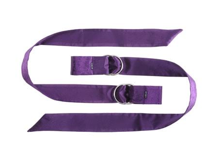 Boa - hedvábné stuhy - fialová