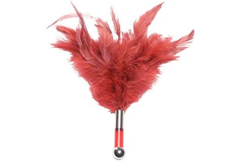 Dráždící peříčka Tantra - červená