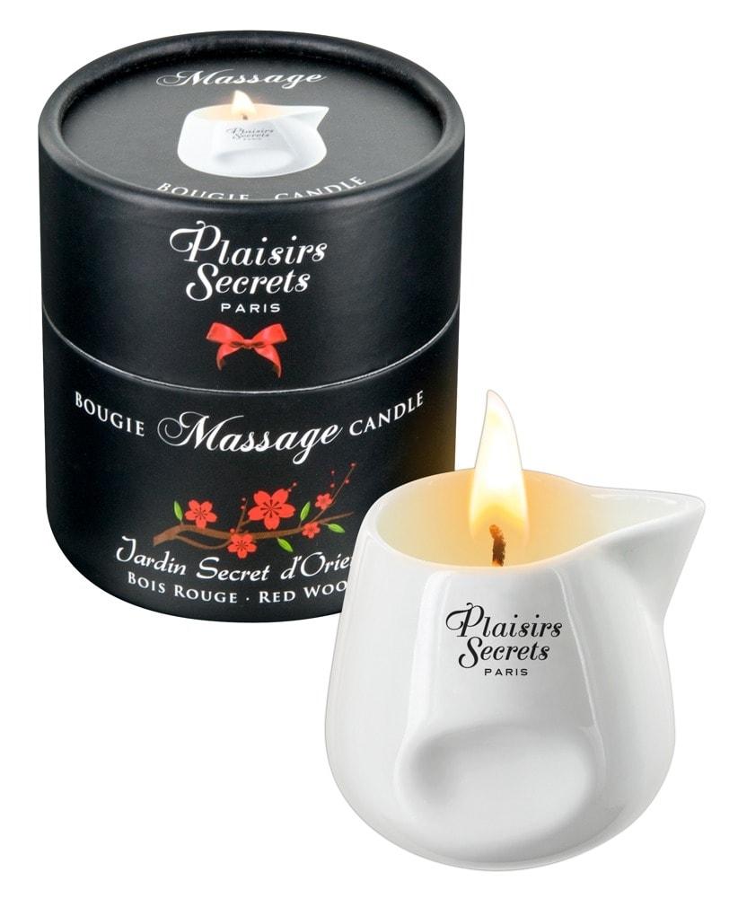 Masážní svíčka Plaisirs Secrets Candle Red wood (80 ml)