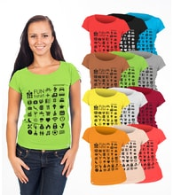Woman´s speaking T-shirt TRAVEL