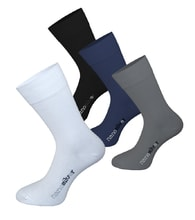 Formal socks with molecules of silver