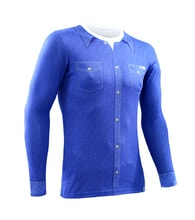Thermal T-shirt nanosilver with long slevees - JEANS SHIRT PATTERN