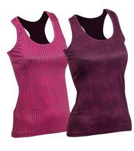 Woman´s fitness tank top nanosilver ACTIVE with  printing Plastic