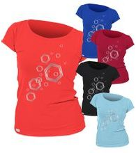 Woman´s T-shirt nanosilver CLASSIC imprinted HEXAGON